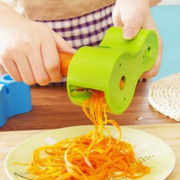 Cutter Sharpener Australia - Multifunction Spirality Double-headed Grater With Sharpener 2 In 1 Vegetable Graters Spiral Peeler Cutter Kitchen Tool Gadget DBC VT1773