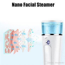 $enCountryForm.capitalKeyWord Australia - 2-in-1 Nano Face Steamer With 1200mAh Battery Water Spray Bottle Ultrasonic Ozone Facial Sprayer Portable Summer Hydrating Skin Care Tools