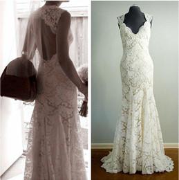 $enCountryForm.capitalKeyWord Australia - High Quality Lace Real PhotoWedding Dresses Bridal Gowns Mermaid Sweetheart Cap Sleeves Keyhole Back New Wedding Gowns Cheap