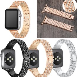 $enCountryForm.capitalKeyWord UK - Band for Apple watch series 1 2 3 4 Women Crystal Rhinestone Diamond Watch Bands Stainless Steel Bracelet Strap For iwatch 38 40 42 44mm