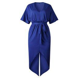 $enCountryForm.capitalKeyWord UK - Best Selling Summer Sexy V-neck Lace-up Short-sleeved Women's Dress Female Fashion Popular Trend Style High Good Quality jooyoo