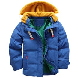 years baby jackets NZ - Baby Boy clothes Boys Winter Coat Kids Hooded Jacket Children Plus Velvet Jacket 5-10 years old Children's fashion down clothes