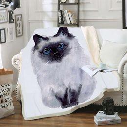 $enCountryForm.capitalKeyWord Australia - GRIDILANGO Cartoon Dog Cat Microfiber Bed Blanket Plush Sherpa Throw Blanket Animal Customized for Kids Gifts Home Textile manta