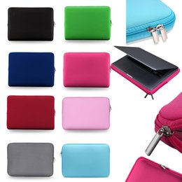 Soft Laptop Case 13 Inch Laptop Bag Zipper Sleeve Protective Cover Carrying Cases for iPad MacBook Air Pro Ultrabook Notebook Handbags on Sale