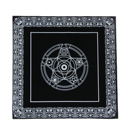 $enCountryForm.capitalKeyWord Australia - 2019 new 49x49cm Non-woven Board Game Textiles Tarot Table Cover Playing Cards Pentacle Tarot Game Tablecloth
