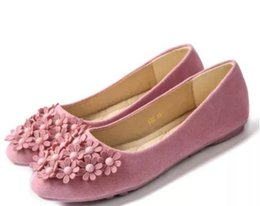 $enCountryForm.capitalKeyWord NZ - Hot Sale-2019 Flower Suede Women's shoes in Spring and Autumn with New style flat bottom round head