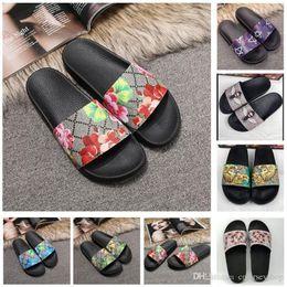 $enCountryForm.capitalKeyWord Australia - 2019 Top Men Women Sandals Designer Shoes Luxury Slide Summer Fashion Wide Flat Slippery Sandals Slipper Flip Flop size 35-46 flower box