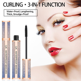 fiber lash extensions NZ - MP033 QIC blue starry sky 4D mascara Thick curling lengthening eyelash extension cream long lasting waterproof 4D black fiber lash mascara