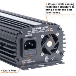 Freeshipping ABD Modeli HPS / MH Işık Balast 1000W Topraksız Dim Dijital Elektronik 1000 Watt Balast FAN Soğutmalı Grow