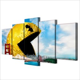 spray painting games Australia - Pixels Video Game Characters,5 Pieces Home Decor HD Printed Modern Art Painting on Canvas (Unframed Framed)
