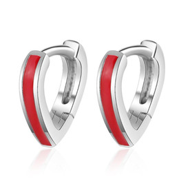$enCountryForm.capitalKeyWord Australia - Exquisite Red Heart Ear Hook Hoop Earrings For Women Trend Creative 925 Sterling Silver Party Gift Jewelry Accessories SAE402