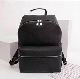 designers mens bags NZ - CHRISTOPHER Real Mens Big Mens Backpack M43435 High Backpacks Bag Backpack Leather Quality Designer Size Damier Graphite Canvas Backpac Oewd