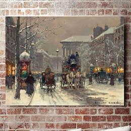 $enCountryForm.capitalKeyWord Australia - Edouard Cortes, winter scene in Paris,Home Decor HD Printed Modern Art Painting on Canvas (Unframed Framed)