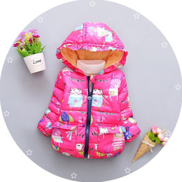 Infant Woolen Australia - good quality winter baby girls coat winter warm jacket fashion thick down parka coat infant girls hooded snowsuits girls sport coat