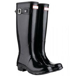 Nagelneuer Regen beschuht hohe hohe Stiefel Mädchen-Jungen Anti-Rutsch-Knie-Knöchelaufladungen schwarze RainBoots-Wasser-Frauen-Größen-Stiefel Dhl-freies Verschiffen