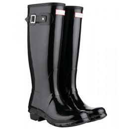 Новый дождь обувь высокие высокие сапоги девушки мальчики противоскользящие колено ботильоны черный RainBoots воды Женщины размер сапоги DHL Бесплатная доставка