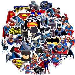 laptop cartoon Australia - 45 PCS batman Superman Stickers Cartoon Super Heroes Movie Sticker For Laptop Luggage Skateboard Kids Toy Stickers