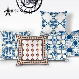scandinavian lighting 2019 - Vintage Geometric Pillow Case Boho Stripe Decorative Cushion Cover Scandinavian Cushions Covers Home Decor Sofa Pillows