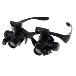 Wholesale 4 Magnifications X X X X Magnifying Magnifier Eye Glasses Loupe Jeweler Watch Jewelry Repair Tool with LED Light