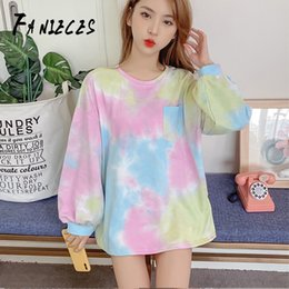 $enCountryForm.capitalKeyWord Australia - Women's Fashion Tie Dye Sweatshirt Soft Long Sleeve Autumn Winter Sweatshirt Casual Long Plus Size Blouses Tops sudadera