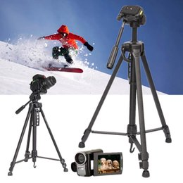 Dslr Camera Stand Tripod Australia - WT-3530 Aluminium Tripod Stand With Carry Case Telescoping 3 Sections Tripods For Digital Camera DSLR Camcorder Adjustable