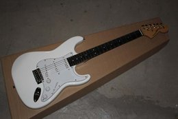 $enCountryForm.capitalKeyWord Australia - wholesale Custom Body Ebony fingerboard Stratocaster with synchronizec tremolo white Electric Guitar 11-12