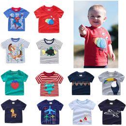 Kids Designer T Shirts NZ - 2019 kids designer clothes boys t-shirts Cotton Striped Children Boys Tee Cartton Crocodile Shark Lion Kids Designer Clothes Girls