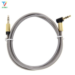 Vga Audio Cord Australia - 3.5mm Jack Audio Cable 3.5 Male to Male metal Right Angle 90 degree Car Aux Auxiliary Cord Supports Phone PC wholesale 100pcs  lot