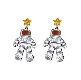 $enCountryForm.capitalKeyWord Australia - 2019 New Arrival European and American Style Funny Personality Star Astronaut Earring Winter Fun Figure Earrings E5772