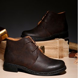 split boots NZ - Cow split leather boots for man western boot leisure ankle boots for Men Europe spring autumn shoes Classic men cotton shoes zy5831