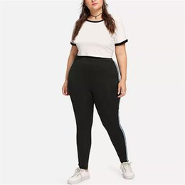 f19ee909efaa38 Plus Size 5XL For Women Hot Striped Printed Yoga Pants Sport Leggings Push  Up Fitness Gym Clothes Black Running Tights Trousers