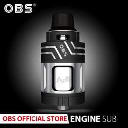 obs vape tank Australia - Original OBS Engine sub with 5.3ml tank and 17mm organic cotton coil for obs vape E- Cigarettes vaporizer