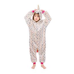 Hooded onesies costume online shopping - Kids Unicorn Pajamas Baby Hooded Unicorn Sleepwear Boys Girls Cartoon Onesies Children Flannel Animal Cosplay Costume Rompers GGA2455
