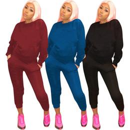 0db45ef0a Diseñador de la marca mujer suéter de invierno Rhinestone conjunto de 2  piezas con capucha leggings chándal sudadera ropa deportiva suéter  pantalones trajes ...