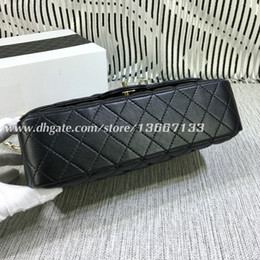 Genuine Leather Bag Design Australia - Good Price fashion design Shoulder Bag Genuine Lambskin Leather Double Flaps Bags Medium Women Chain Bag Handbags 1112