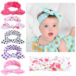 strawberries hair accessories UK - 1 piece Fashion Headwear Kids Dot Knot Rabbit Bowknot Headband Girls Hair Accessories Strawberry Elastic Hair Bands 732