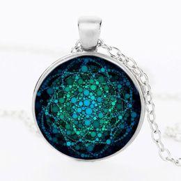 $enCountryForm.capitalKeyWord NZ - Flower of Life Necklace Om Yoga Chakra Pendant Mandala Necklaces Fashion Glass Dome Sacred Geometry Women Jewelry