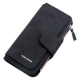 $enCountryForm.capitalKeyWord Australia - Women Bag Lady Solid Color Matte Long Section Three Fold Multi-Card ladies Wallet hand purse women portafoglio#T1