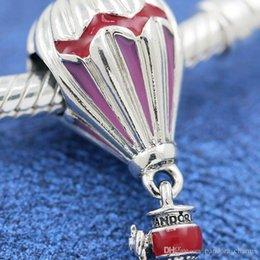 $enCountryForm.capitalKeyWord Australia - Fashion Pandora Jewelry Bracelet Charm Hot Air-Balloon 925-Sterling Silver Summer Original Fits