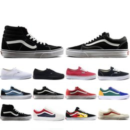 Red white canvas wall aRt online shopping - THE WALL old skool Wans FEAR OF GOD For men women canvas sneakers YACHT CLUB MARSHMALLOW fashion skate casual shoes