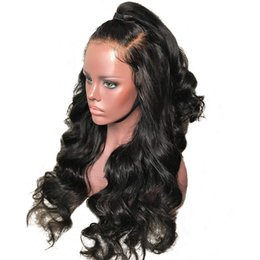 $enCountryForm.capitalKeyWord Australia - Malaysian 100% Human full lace Hair Wigs loose wave with Baby Hair pre plucked with bangs Lace Front Wigs For Black women