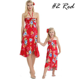 $enCountryForm.capitalKeyWord UK - Family Matching Beachwear Floral Print Boho Halter Cover Up Halter Dress for Mother and Daughter Plus Size