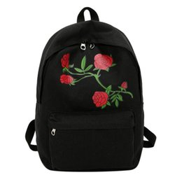 $enCountryForm.capitalKeyWord UK - Women's Floral Rose Print Backpack Large Capacity Teenagers School Bag Knapsack Travel Shoulder Bag Girls Women AIZHIYI Brand #160411