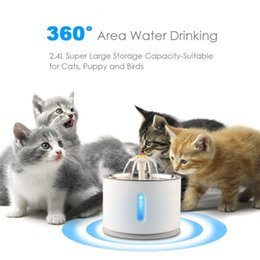 $enCountryForm.capitalKeyWord Australia - 2.4L Cat Automatic Feeder Drink Filter Automatic Cat Water Fountain For Pets Water Dispenser Large Spring Drinking Bowl With Led Light