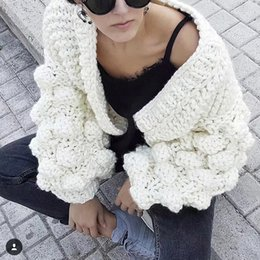 $enCountryForm.capitalKeyWord NZ - Knitted Cardigan Women Long Sleeve Autumn White Sweaters Women Winter 2019 Jumpers Ladies Tops Female Cardigans For WomenMX190820