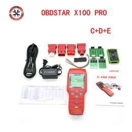E Tester NZ - OBDSTAR X-100 PRO X100 Pro Auto Key Programmer C+D+E Type for IMMO&ODOMETERand OBD Software Function with EEPROM X100 Programmer