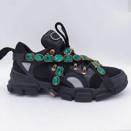 Zapatilla de deporte de Flashtrek con cristales extraíbles Zapatos de diseñador de lujo para hombre Moda casual Diseñador de lujo Zapatillas de deporte para mujer Tamaño 35-45 en venta