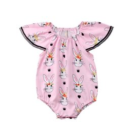 Jumpsuits Rabbit Girl Australia - Easter baby romper rabbit Newborn Rompers baby girl clothes Infant One Piece Clothing Toddler Jumpsuit Infant Clothes Newborn Clothes A3304