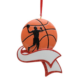 Decor Ornament UK - Free Customization - MAXORA Personalized Basketball Ornament for Christmas Tree Decor Basketball Souvenir Gift For Athletes Sportsman