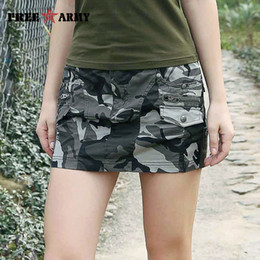 $enCountryForm.capitalKeyWord NZ - New Sexy Mini Skirts For Women Summer Style Mid Waist Micro Army Green Skirts Womens Pockets Camo Zipper Skirt Casual Gk-9511 Y19043002
